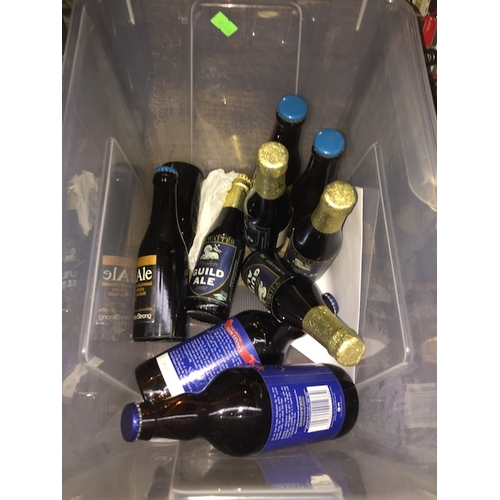 41 - A box containing 8 Guild Ale sealed bottles + 2 sealed Booths ale....