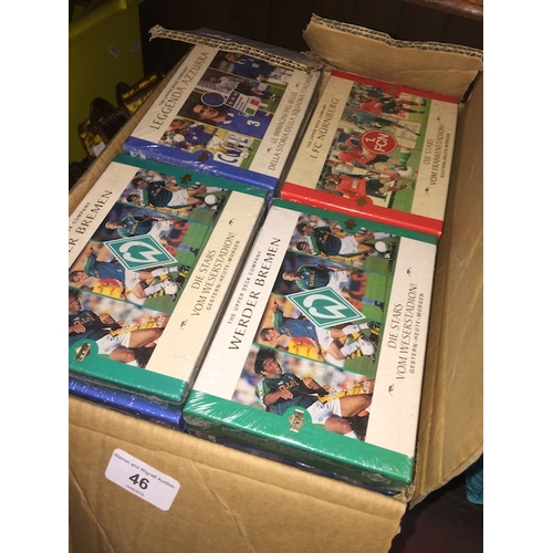 46 - A box of football card sets....
