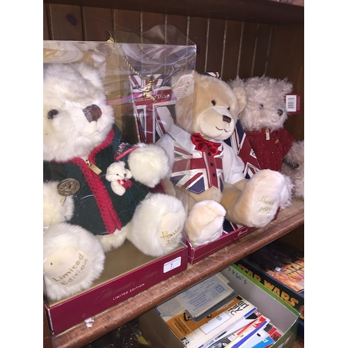 7 - 3 limited editions Harrods bears...