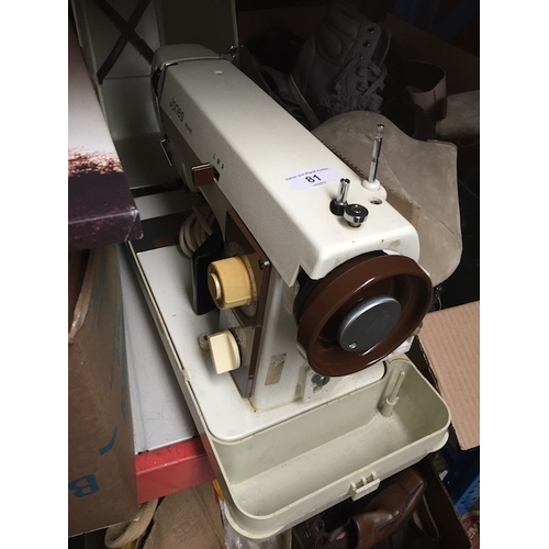 81 - An electric Jones VX500 sewing machine, with pedal and lead in original case....