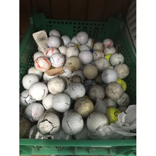 42 - A box of golf balls...