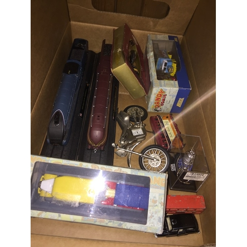 57 - A box of toys to include Dandy, trains, etc....