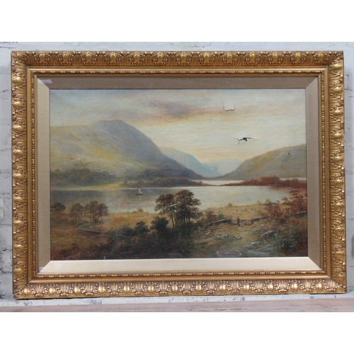 12 - 19th Century School, Lake District mountain landscape