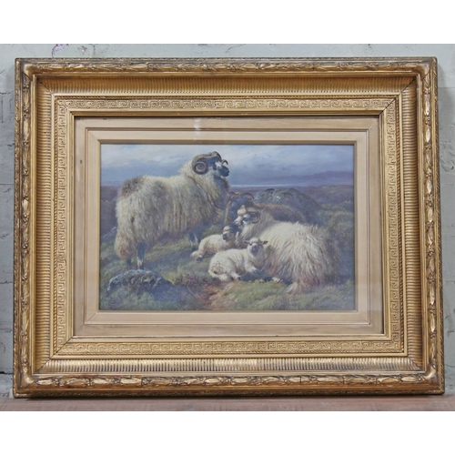 13 - Robert Watson (1856-1920), pair, cattle grazing within mountain landscapes, oil on canvas, 44cm x 29...