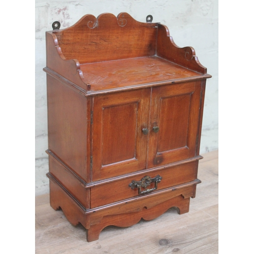 38 - A late Victorian smoker's cabinet, optional wall mounting or free standing, together with contents i...
