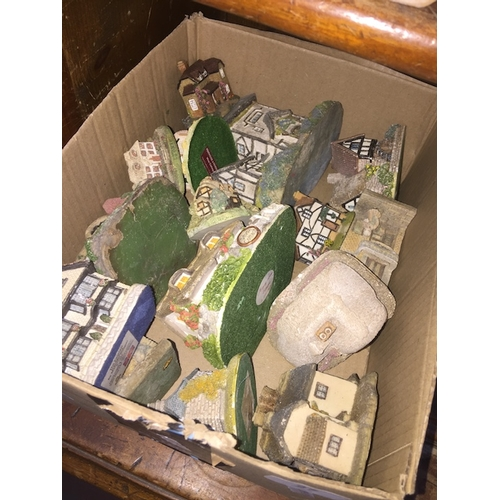 27 - A box of model houses including Lilliput Lane...