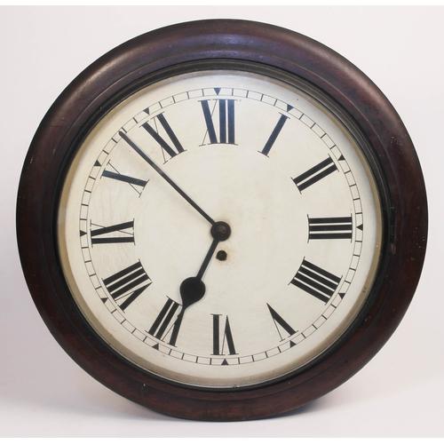 1 - A fusee wall clock, diam. 46cm, stamped 'F.W. Elliot' verso....