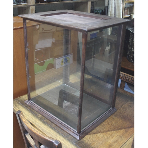41 - An Edwardian table top display cabinet with two glass shelves, width 56cm, depth 53cm & height 65.5c...