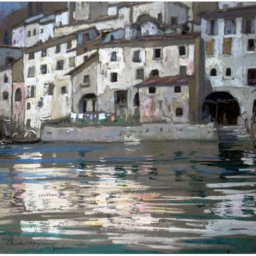 58 - Charles Oppenheimer (Scottish 1876-1961), Italian scene, watercolour, 24cm x 26cm signed and indisti...