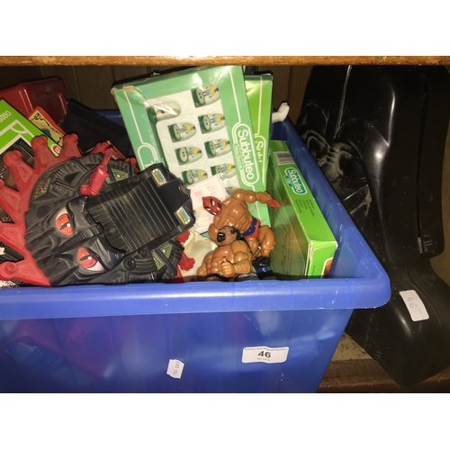 46 - A box of childrens toys,