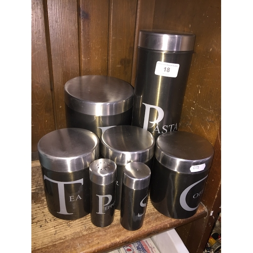 18 - A kitchen containers set...