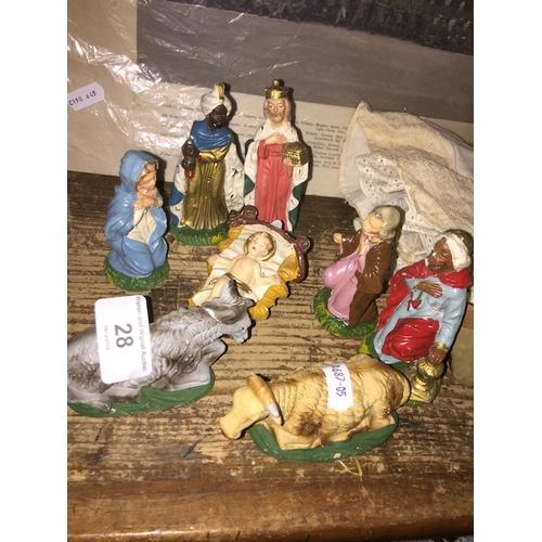 28 - An Italian nativity set...