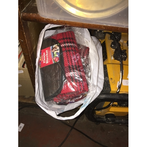58 - A bag of picnic blankets....