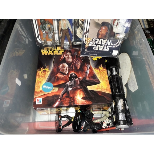 44 - A crate of Star Wars style figures...