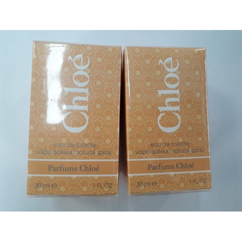 3 - Two 30ml bottles of Chloe perfume, sealed....