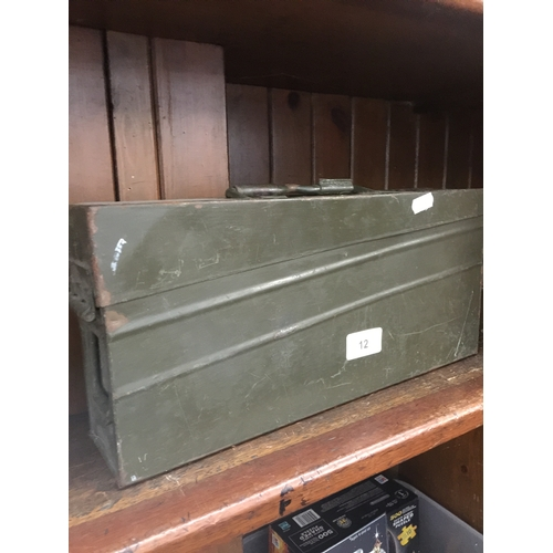 12 - A WWII ammo tin...
