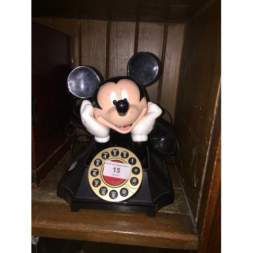 15 - A Mickey Mouse telephone...