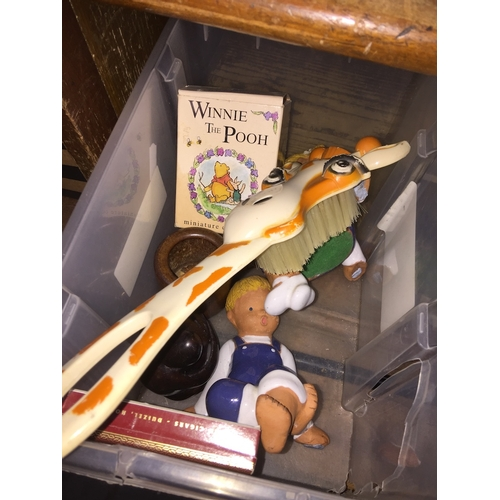 50 - A box of small figures, including Winnie the Pooh....