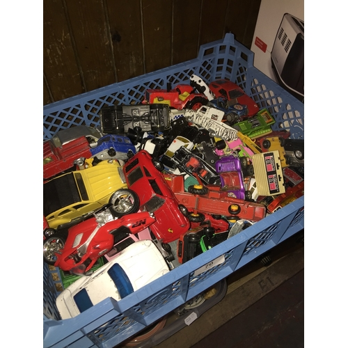 70 - A quantity of model vehicles including Matchbox and Corgi (playworn)...