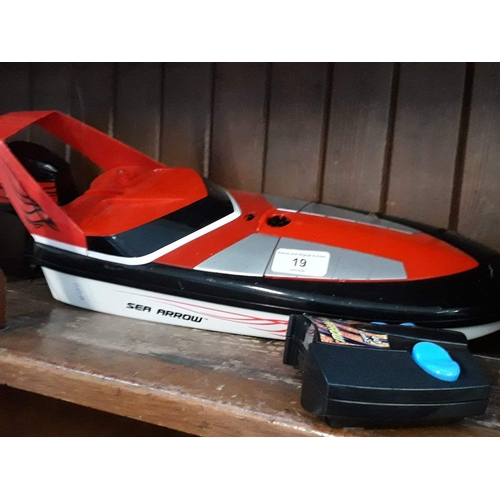 19 - A Tyco remote controlled boat...