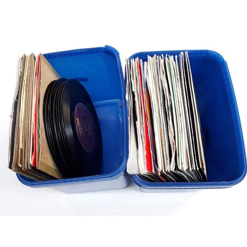 26 - Two boxes of vinyl singles...