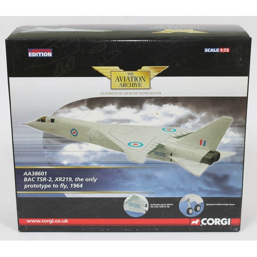 11 - Corgi The Aviation Archive BAC TSR-2, XR219, the only prototype to fly, 1964, AA38601, 1:72 scale di...