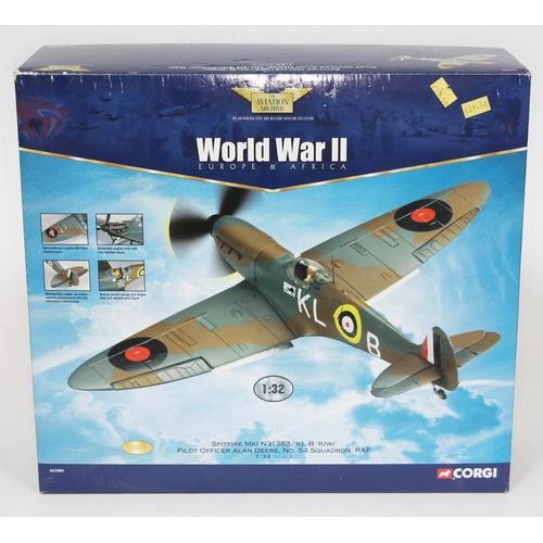 14 - Corgi The Aviation Archive World War II Europe & Africa Spitfire MkI N31383/KL-B 'Kiwi' Pilot Office...