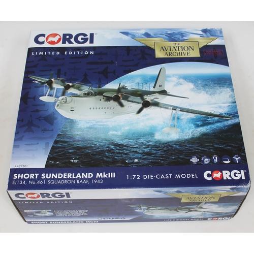 15 - Corgi The Aviation Archive Short Sunderland MkIII EJ134, No. 461 Squadron RAAF, 1943, AA27501, 1:72 ...