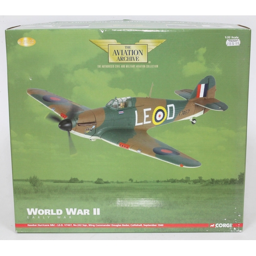 19 - Corgi The Aviation Archive World War II Early War Hawker Hurricane MkI - LE-D, V7467, No.242 sqn, Wi...