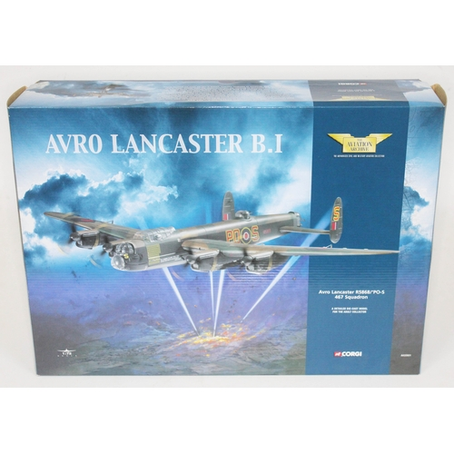42 - Corgi The Aviation Archive Avro Lancaster R5868/'PO-S 467 Squadron, AA32601, 1:72 scale die-cast mod...