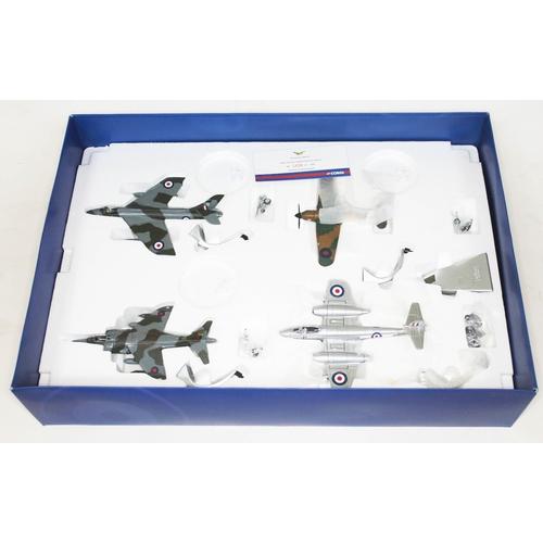 44 - Corgi The Aviation Archive RAF 4 Piece Set NO.1 Squadron - Through the Ages Hawker Hurricane MkI Glo...