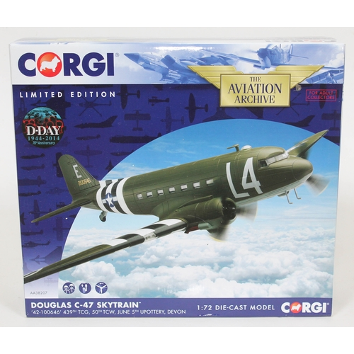 5 - Corgi The Aviation Archive Douglas C-47 Skytrain '42-100646' 439th TCG, 50th TCW, June 5th Upottery,...