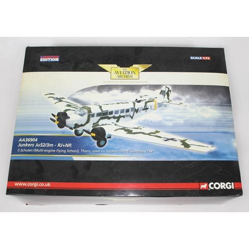 7 - Corgi The Aviation Archive Junkers Ju52/3m - RJ+NP, C-Schulen (Multi-engine Flying School), Thorn, u...
