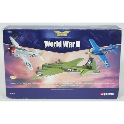 8 - Corgi The Aviation Archive World War II War in the Pacific Eighth Army Force 3 Piece Set Boeing B-17...
