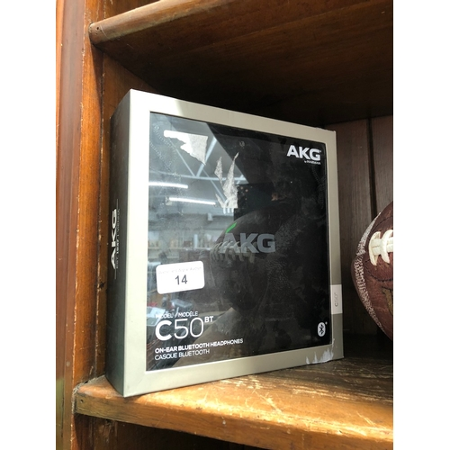 14 - AKG C50 boxed pair of headphones....