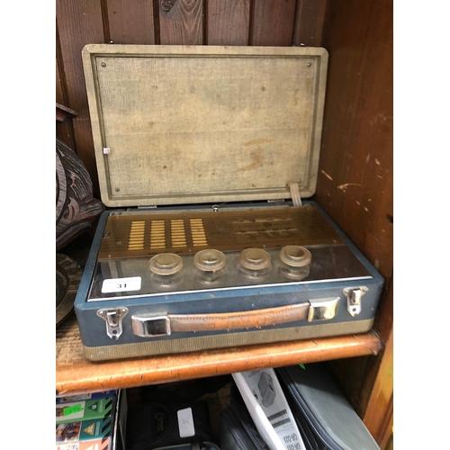 31 - A vintage Cambridge Pye radio...