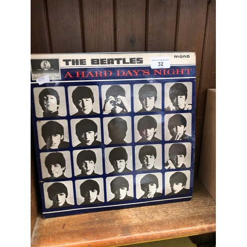 32 - A small collection of LPs to include The Beatles, Jim Reeves, etc....