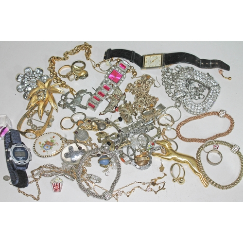 28 - A quantity of costume jewellery....