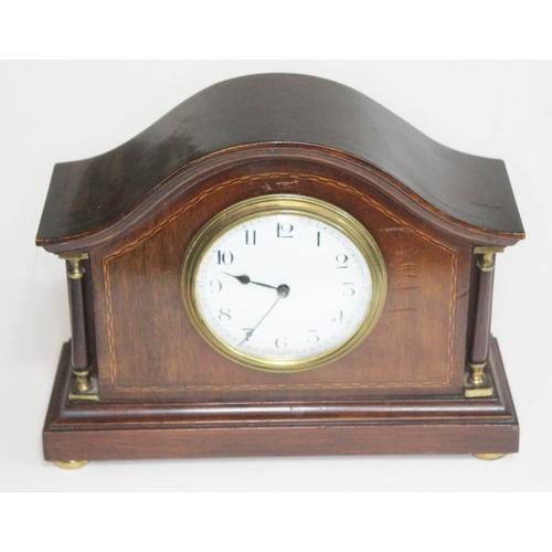 10 - An Edwardian domed mantle clock, length 23.5cm....