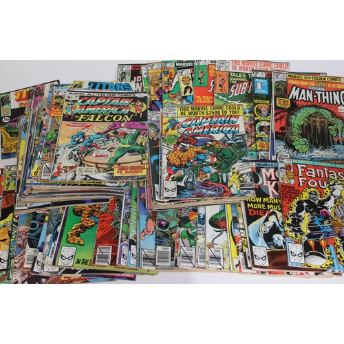 23 - Approx. 88 vintage comics including three firsts: Moon Knight, The Man-Thing and Alice Cooper, toget...