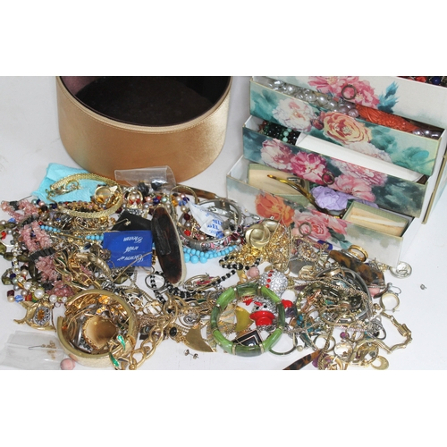 48 - A quantity of costume jewellery....
