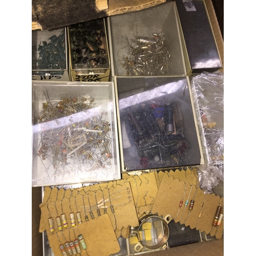 101 - A box of electrical components...