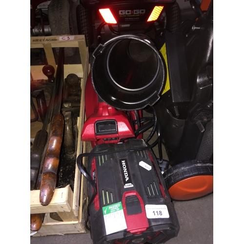 118 - Honda HHBE 81 BE cordless blower....