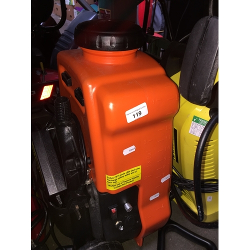 119 - Sherpa pressure washer...