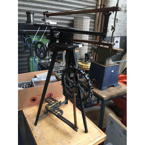 12 - Treadle operated scroll saw ....