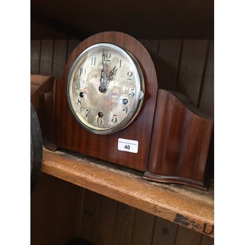 40 - An Enfield chiming mantle clock, length 39cm....