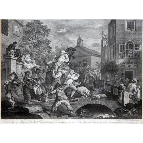 19 - William Hogarth (British 1697-1764), Humours of an Election, set of four engravings;