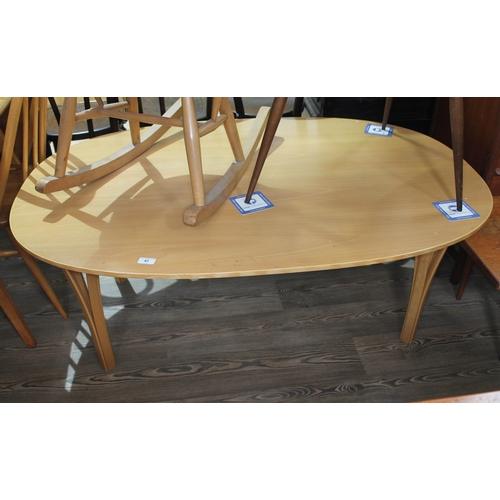 41 - A Danish Superellipse coffee table designed by Bruno Mathsson & Piet Hein for Fritz Hansen circa 198...