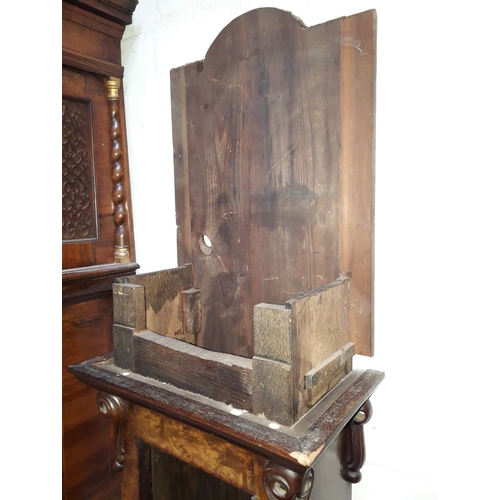 24 - A fine quality 18th century walnut long case clock (case only), probably London, height 220cm....