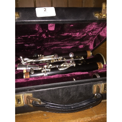 2 - A Buffet Crampon & Co clarinet in case....